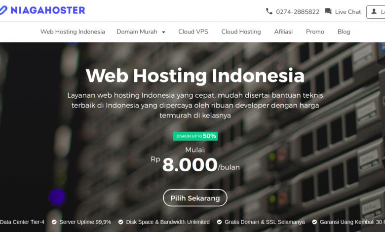 Cara order hosting dan domain di Niagahoster